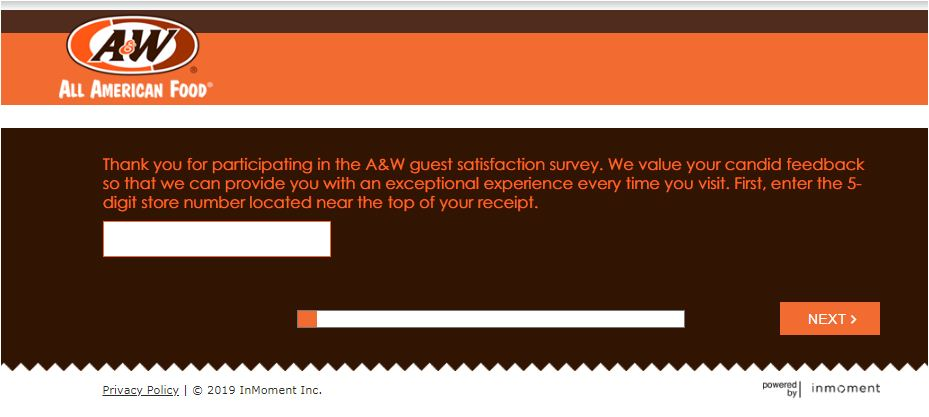 AW restaurant survey