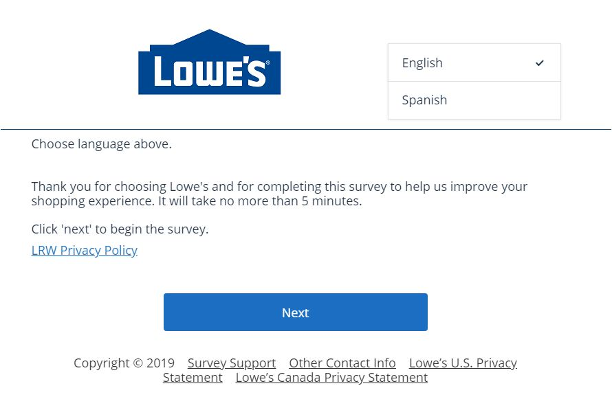 Lowe's Survey